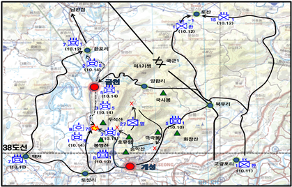 The Delay of 8th Cavalry Regiment's advance to Geumcheon